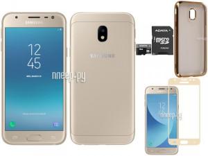 Купить Сотовый телефон Samsung SM-J330F/DS Galaxy J3 (2017) Gold Выгодный набор + подарок серт. 200Р!!