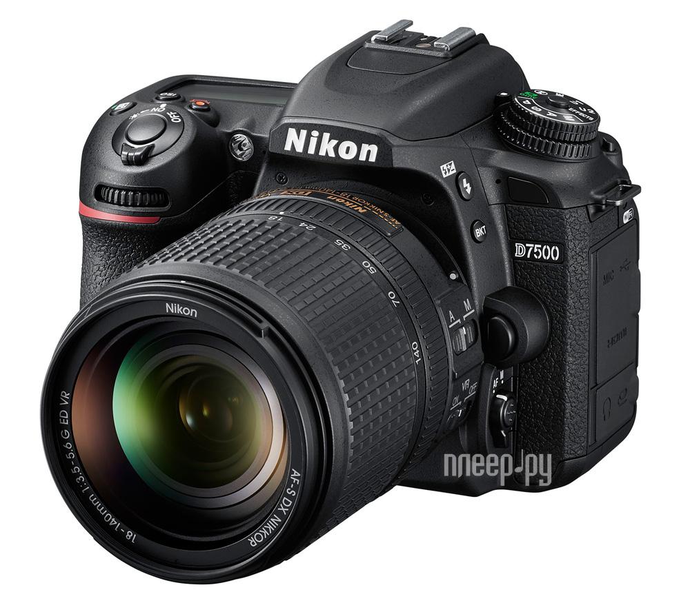 Фотоаппарат Nikon D7500 Kit 18-140 mm f / 3.5-5.6G ED VR DX AF-S