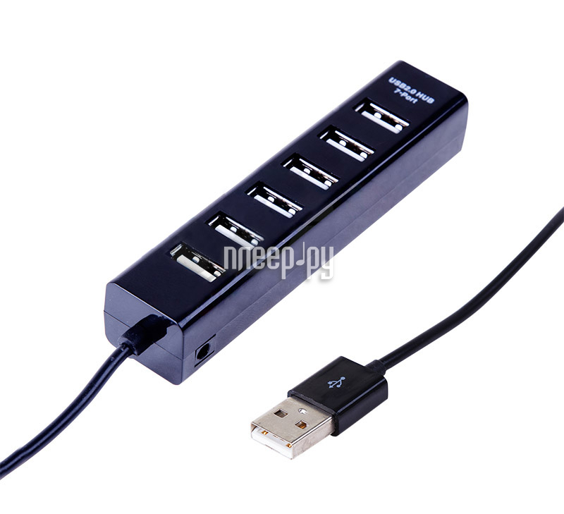 Хаб USB Rexant 18-4107 7 ports Black