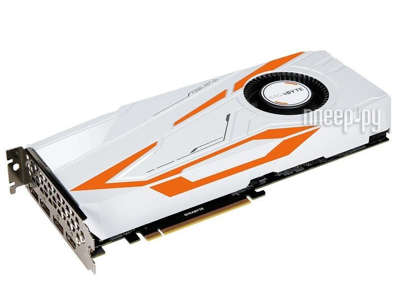 Видеокарта GigaByte GeForce GTX 1080 Ti Turbo 1480Mhz PCI-E 3.0 11264Mb 11010Mhz 352 bit DVI HDMI HDCP GV-N108TTURBO-11GD
