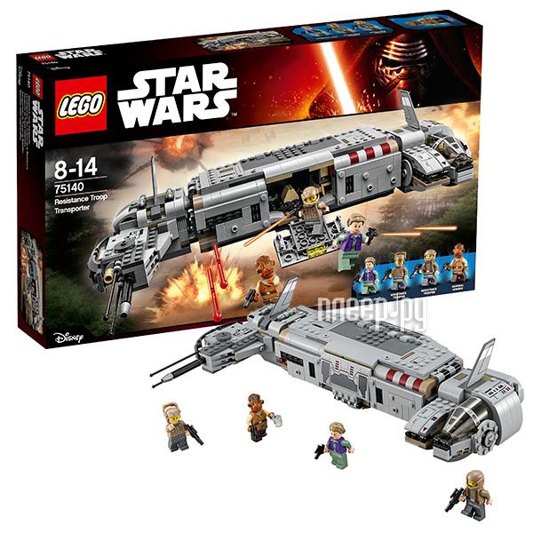 Конструктор Lego Звездные войны Военный транспорт Сопротивления 75140