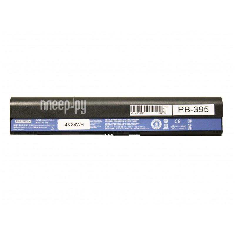 Аккумулятор Palmexx Acer 756 4400mAh Black PB-395