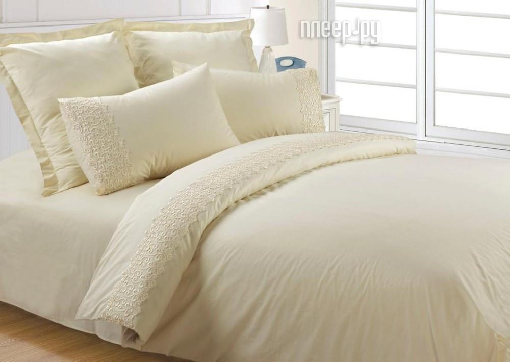 Постельное белье Valtery AB-SG 03 Комплект 1.5 спальный Перкаль + гипюр