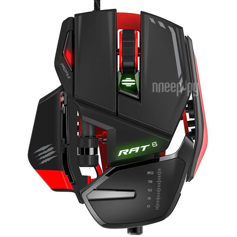 Мышь Mad Catz RAT 6 Black-Red MCB4373200A3 / 04 / 1
