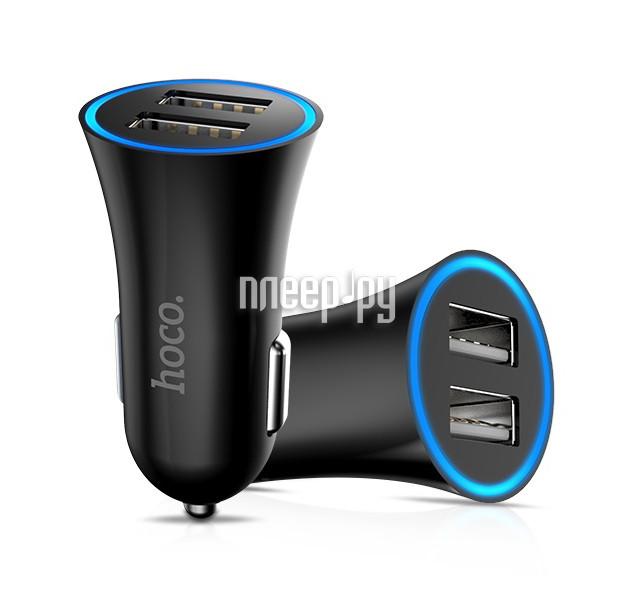 Зарядное устройство HOCO UC204 2.4A Black