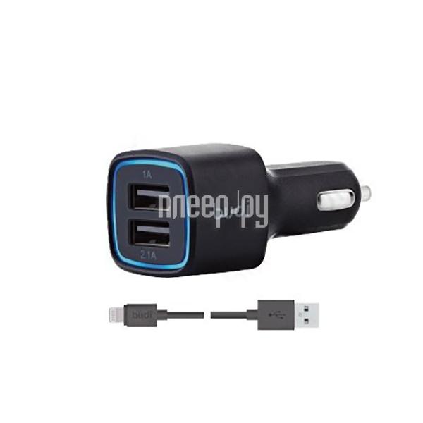 Зарядное устройство Budi M8J065 3.1A + Lightning cable Black купить