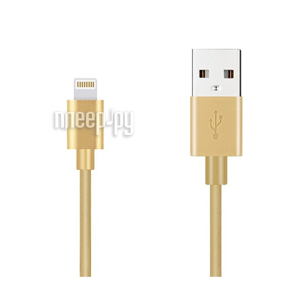 Аксессуар Budi USB - Lightning M8J023 1.2m Gold