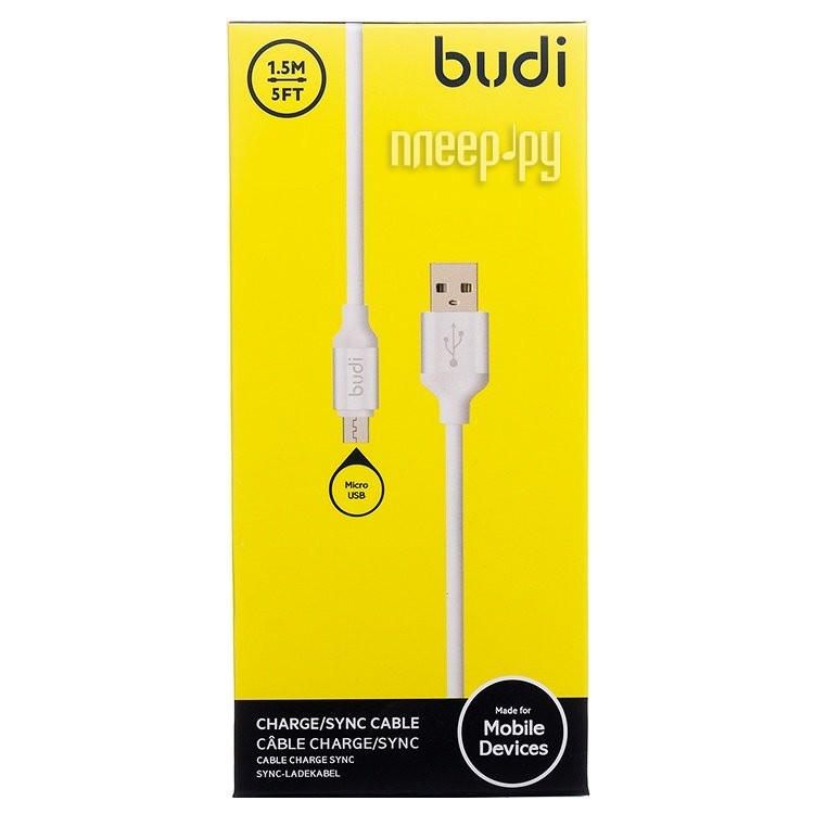 Аксессуар Budi USB - MicroUSB M8J173M 1.5m White
