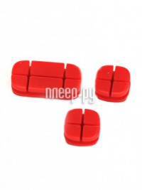Аксессуар Baseus Cross Peas Cable Clip Red ACTDJ-09