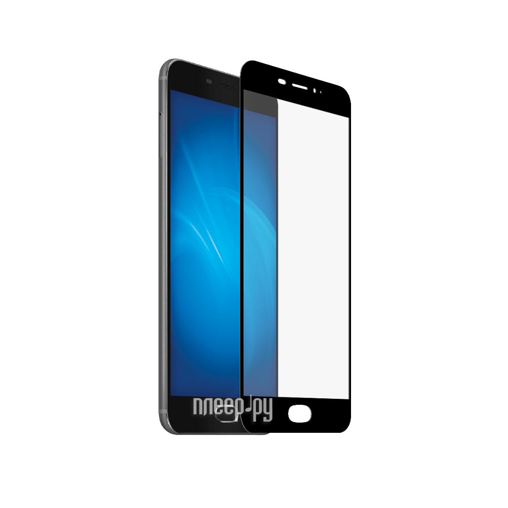 Аксессуар Закаленное стекло Meizu Pro 6 Plus DF Fullscreen mzColor-13 Black