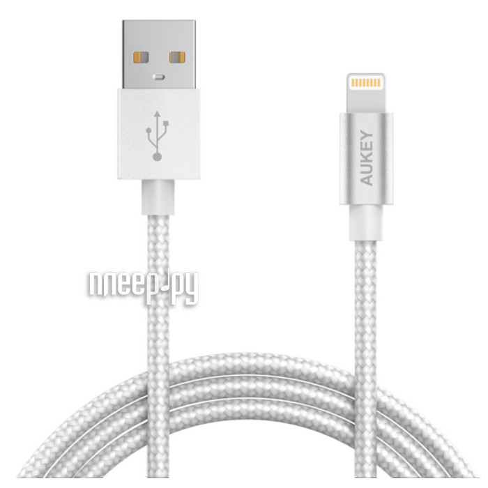 Аксессуар Aukey USB - Lightning 1.2m Gray CB-D16