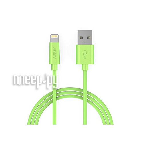 Аксессуар Aukey USB - Lightning 1m Green CB-D20