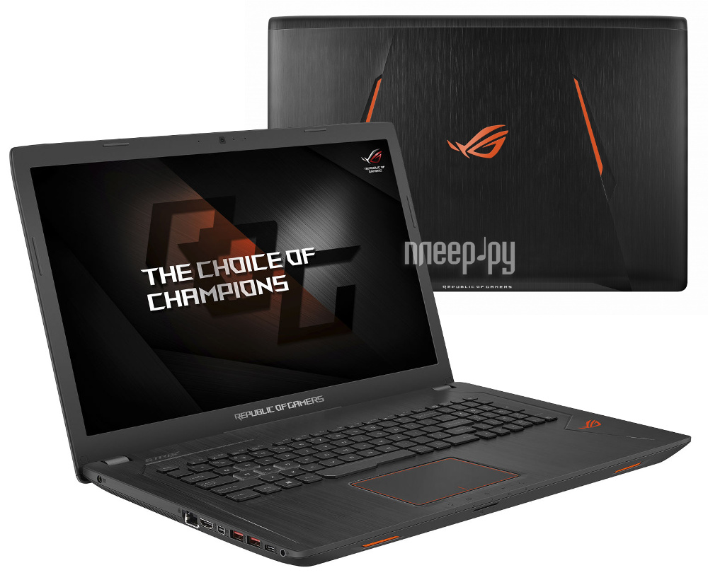 Ноутбук ASUS ROG GL753VD-GC145 90NB0DM2-M02120 (Intel Core i5-7300HQ 2.5 GHz /