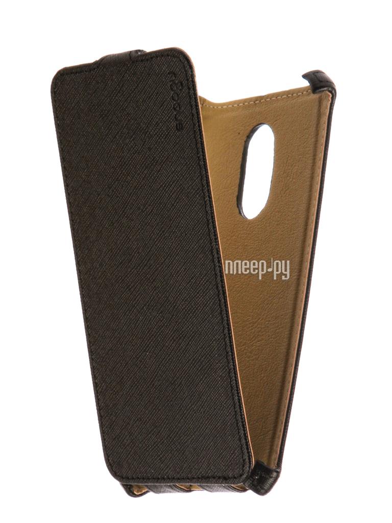 Аксессуар Чехол Xiaomi Redmi Note 4X Snoogy иск. кожа Black SN-Xia-n4X-BLK-LTH