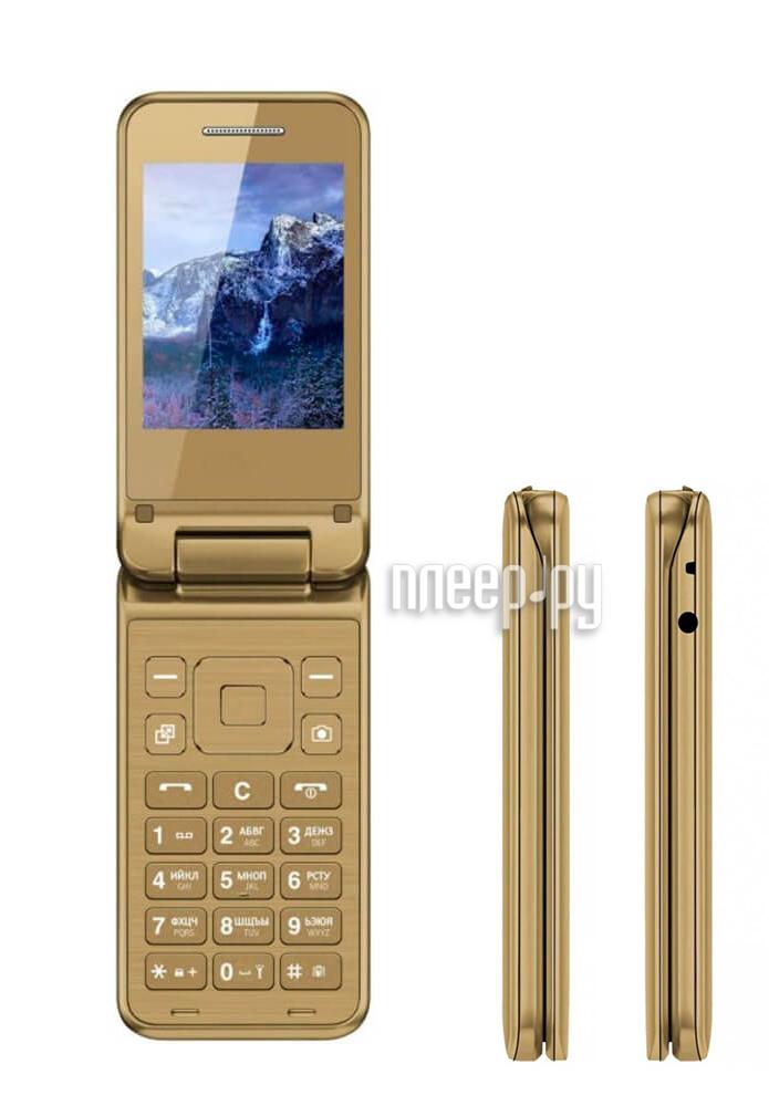 Сотовый телефон Vertex S106 Flip Gold