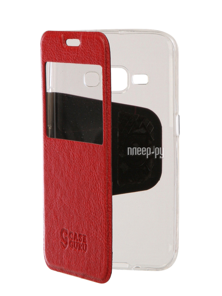 Аксессуар Чехол Samsung Galaxy J1 2016 CaseGuru Ulitmate Case Ruby Red 95479