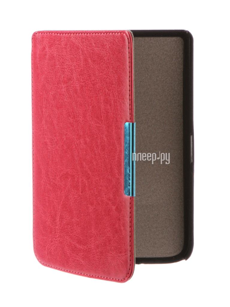 Аксессуар Чехол for PocketBook 614 / 615 / 624 / 625 / 626 TehnoRim Slim Crimson TR-PB626-SL01PN
