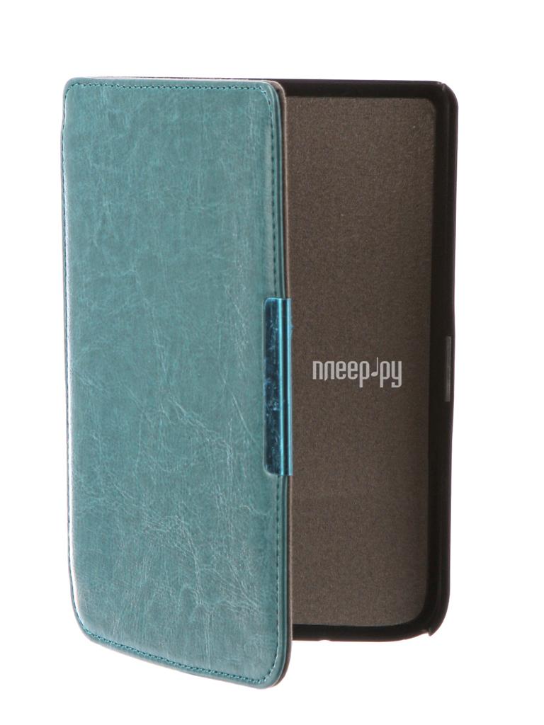 Аксессуар Чехол for PocketBook 614 / 615 / 624 / 625 / 626 TehnoRim Slim Turquoise TR-PB626-SL01BLU