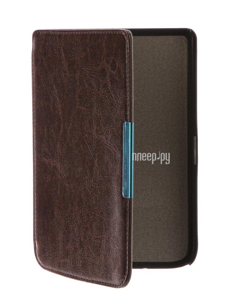 Аксессуар Чехол for PocketBook 614 / 615 / 624 / 625 / 626 TehnoRim Slim Dark Brown TR-PB626-SL01DBR