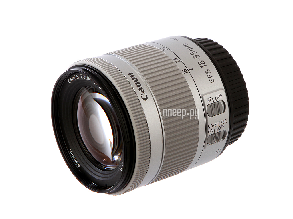 Объектив Canon EF-S 18-55 mm F / 3.5-5.6 IS STM KIT Silver