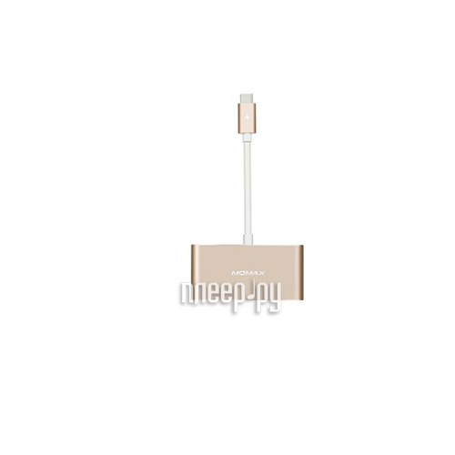 Хаб USB MOMAX USB to 3xUSB + Type-C DHC1 Gold