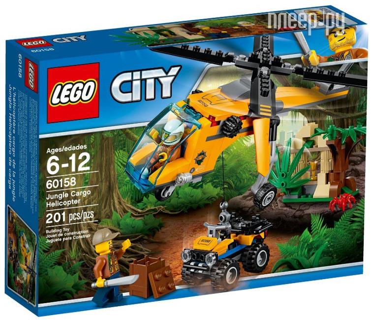 Конструктор Lego City Jungle Explorer Грузовой вертолет 60158