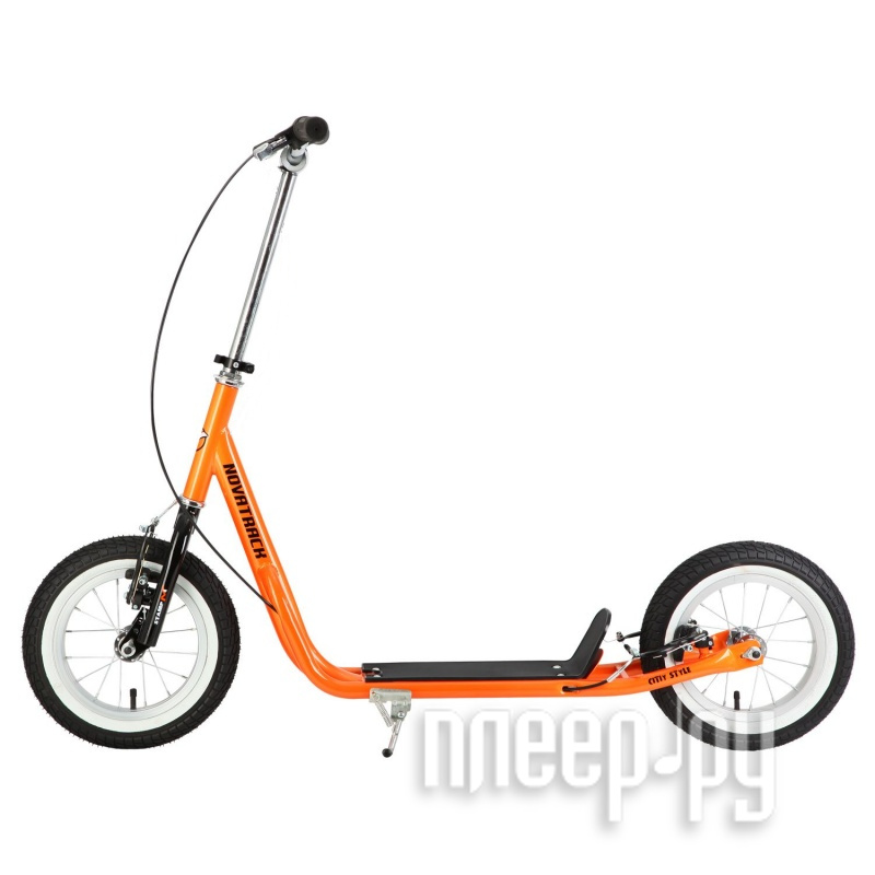 Самокат Novatrack Stamp N4 12 Neon Orange купить