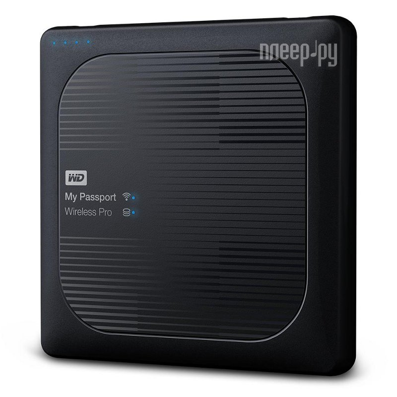 Жесткий диск Western Digital My Passport Wireless Pro 1Tb WDBVPL0010BBK-RESN