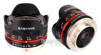 Объектив Samyang MF 7.5 mm F/3.5 Fish-eye UMC for Micro 4/3 Black