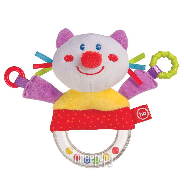 Игрушка Happy Baby Погремушка с пищалкой Кот 330357