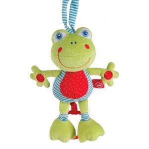 Купить игрушка Happy Baby Музыкальная игрушка-растяжка Лягушка 330361