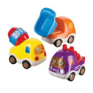 Купить игрушка Happy Baby Набор веселых грузовичков с инерционным механизмом Car4Fun 330066