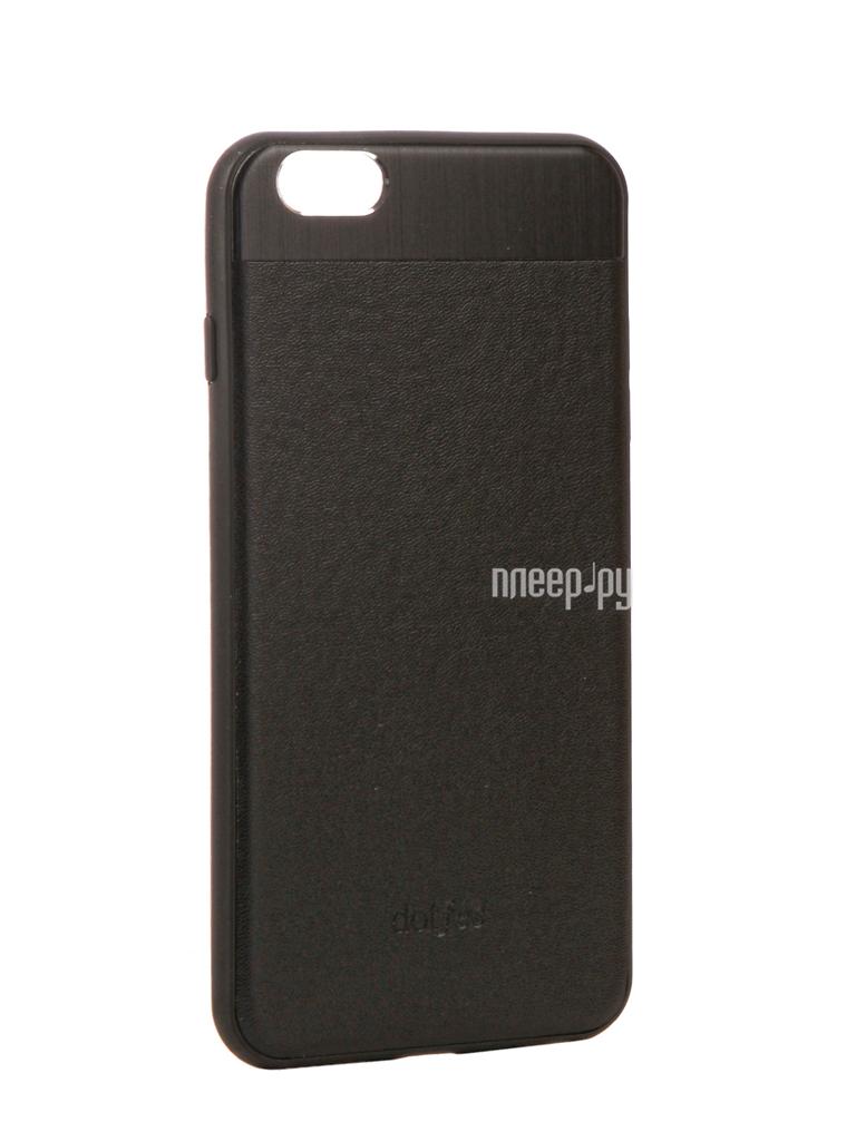 Аксессуар Чехол-накладка Dotfes G03 Aluminium Alloy Nappa Leather Case для APPLE iPhone 6 Plus / 6S Plus Black 47084