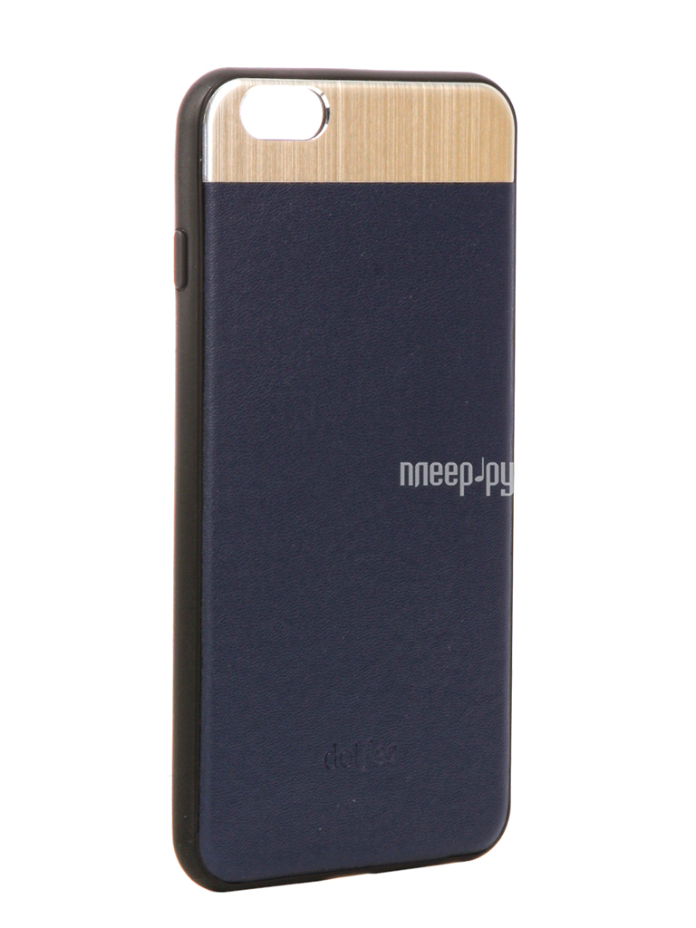 Аксессуар Чехол-накладка Dotfes G03 Aluminium Alloy Nappa Leather Case для APPLE iPhone 6 Plus / 6S Plus Blue 47083