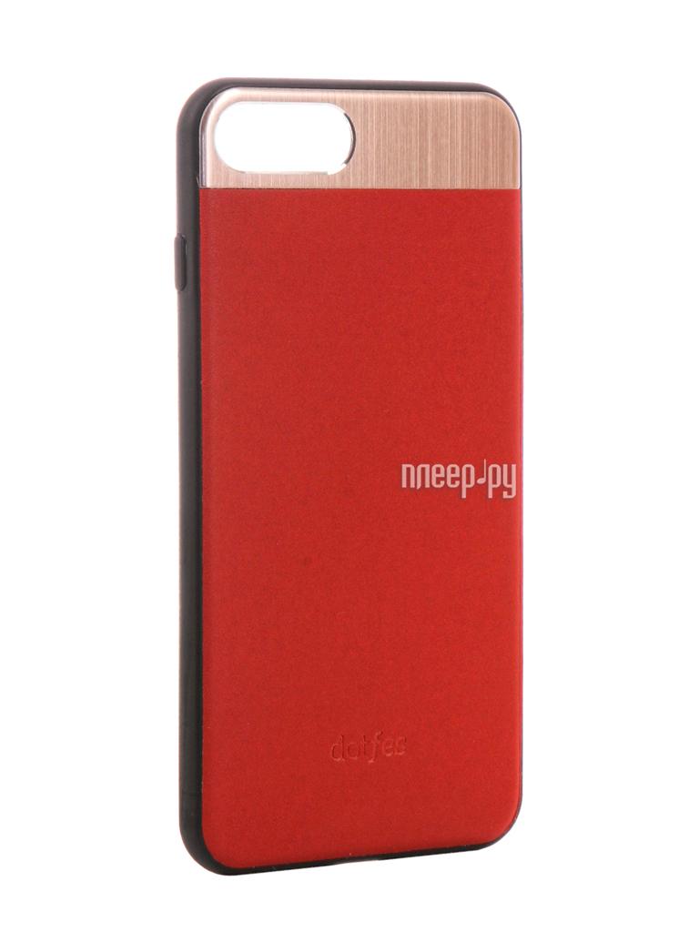 Аксессуар Чехол-накладка Dotfes G03 Aluminium Alloy Nappa Leather Case для APPLE iPhone 7 Plus Red 47089