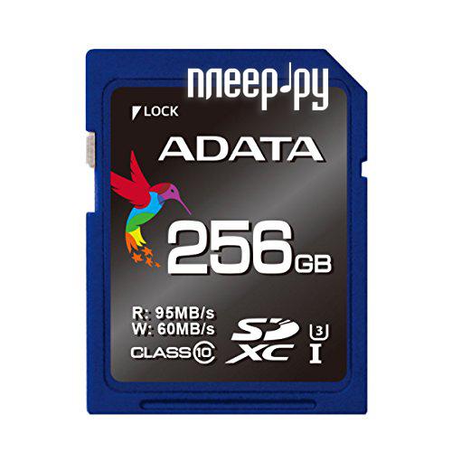 Карта памяти 256Gb - A-Data Premier Pro SDXC Class 10 UHS-I U3 ASDX256GUI3CL10-R