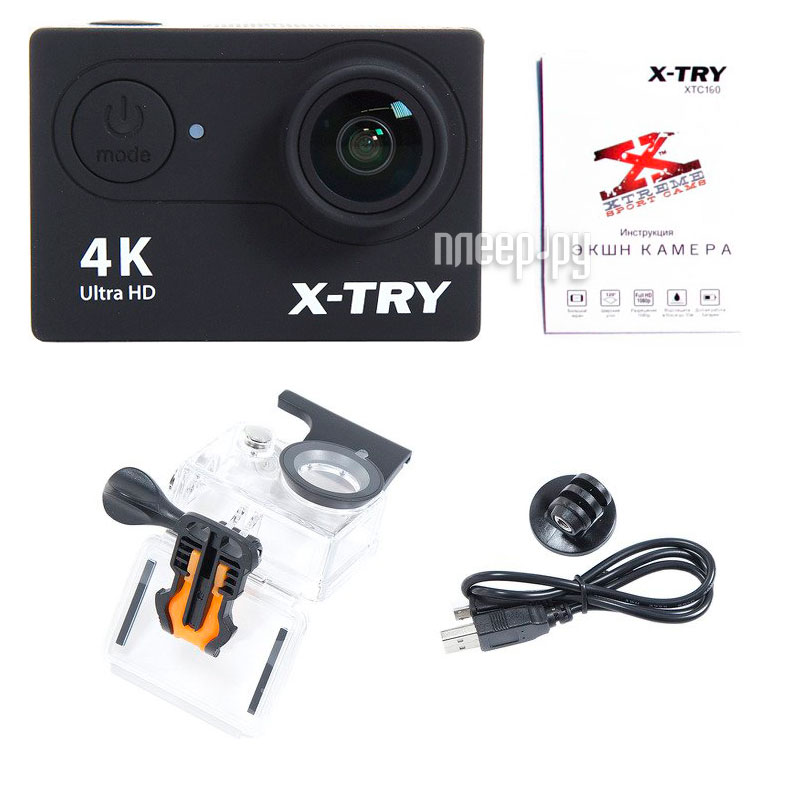 Экшн-камера X-TRY XTC160 Black за 2435 рублей