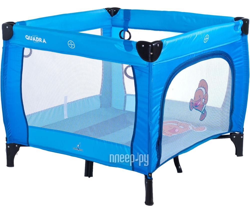 Манеж-кровать Caretero Quadra Blue купить