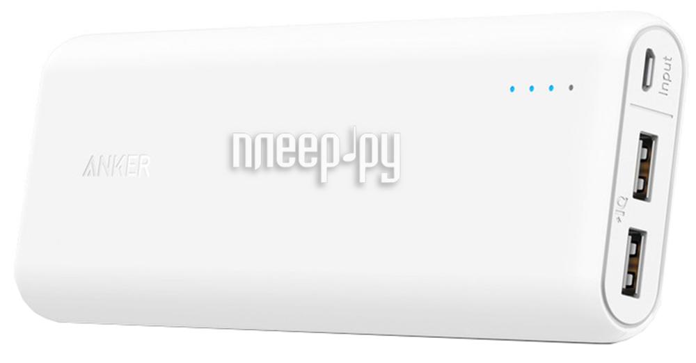 Аккумулятор Anker PowerCore+ 15600mAh A1252021 White 908093