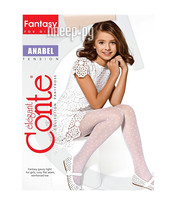 Колготки Conte Anabel 128-134 Panna