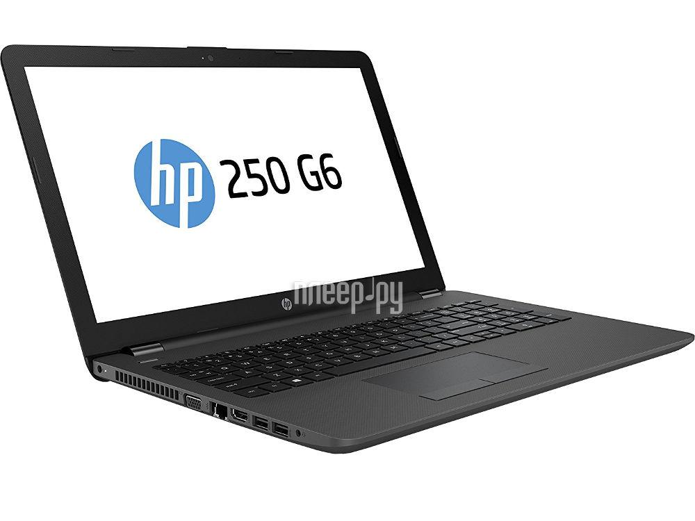 Ноутбук HP 250 G6 1WY40EA (Intel Celeron N3060 1.6 GHz / 4096Mb / 128Gb SSD / DVD-RW / Intel HD Graphics / Wi-Fi / Bluetooth / Cam / 15.6 / 1366x768 / DOS)