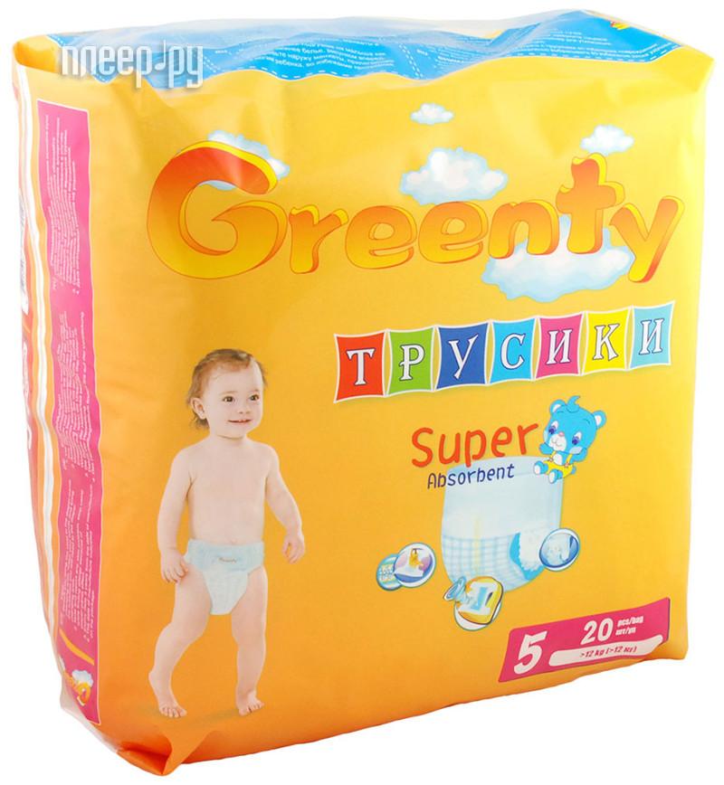 Подгузники Greenty 5 12кг 20шт GREP-5 за 405 рублей