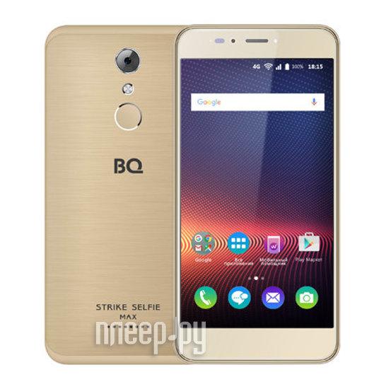 Сотовый телефон BQ 5504 Strike Selfie Max Golden Grinded купить