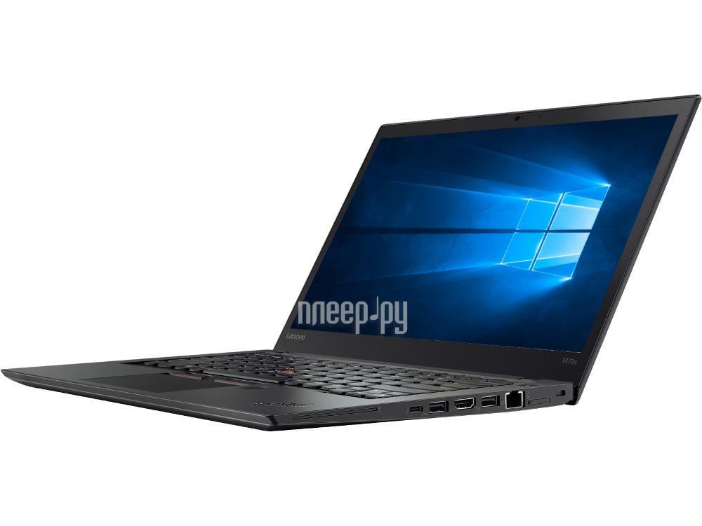 Ноутбук Lenovo ThinkPad T470s 20HF0000RT (Intel Core i5-7200U 2.5 GHz / 8192Mb / 256Gb SSD / No ODD / Intel HD Graphics / Wi-Fi / Bluetooth / Cam / 14 / 1920x1080 / Windows 10 Pro)