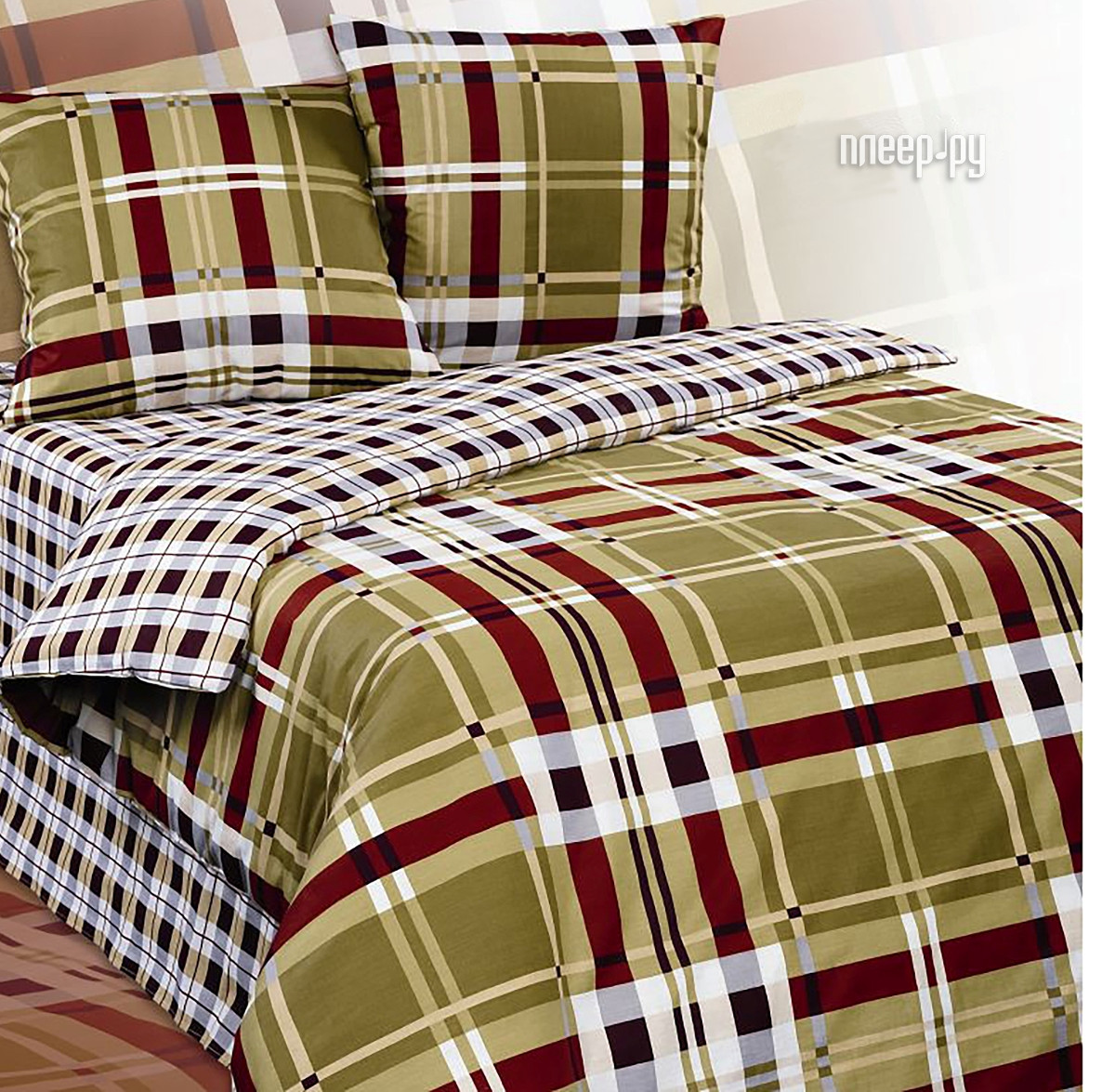 Постельное белье Экзотика Презент Комплект 2 спальный, простыня на резинке