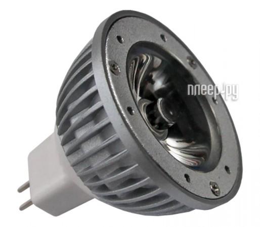 Лампочка Старт LED 12V MR16 GU5.3 1x3W 30 (теплый белый, 3000К)  Pleer.ru  130.000