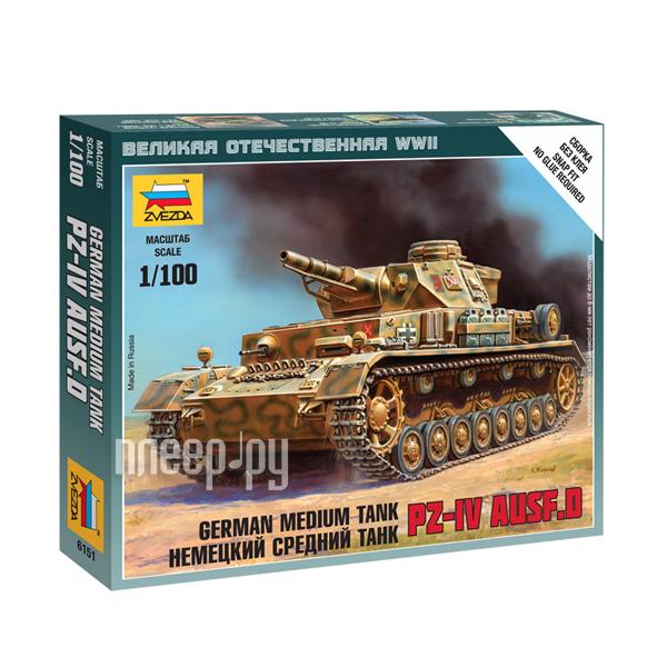 Сборная модель Zvezda Немецкий танк Т-IV 6151