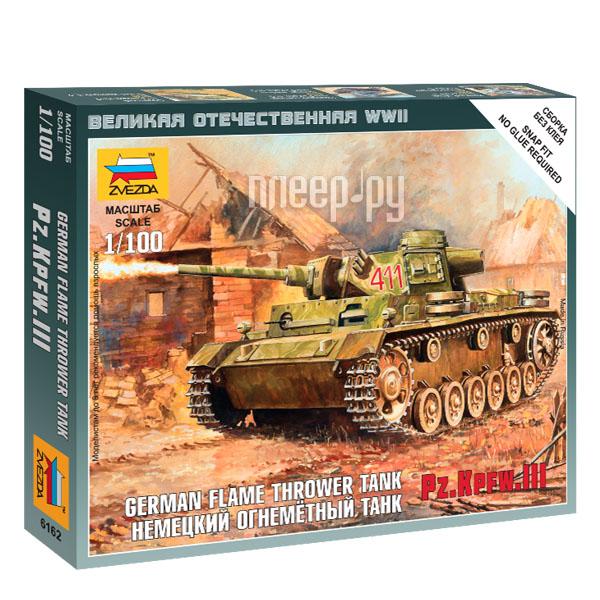 Сборная модель Zvezda Немецкий огнеметный танк Pz.Kfw III 6162