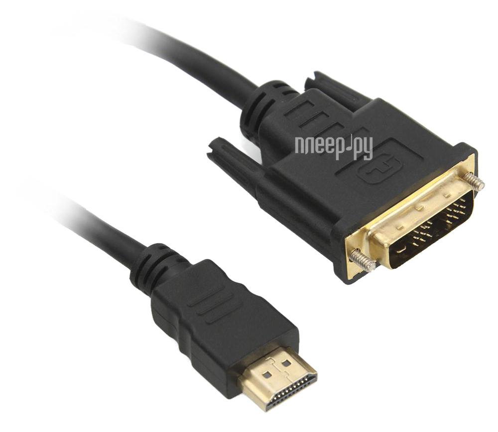 Аксессуар Dialog DVI M - HDMI M 1.8m CV-0518