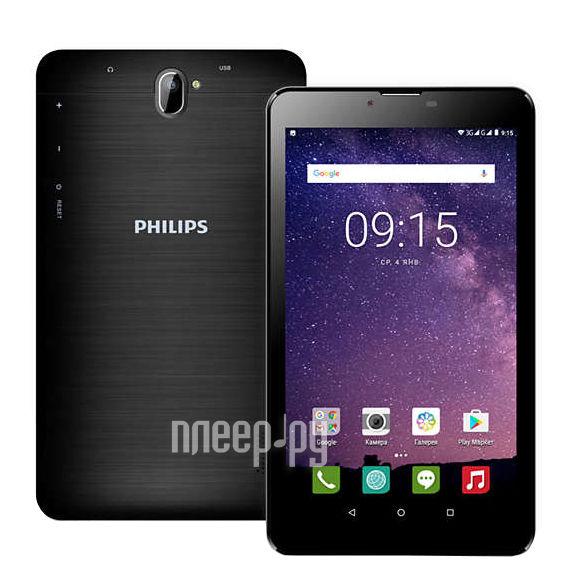 Планшет Philips TLE722G Black (MediaTek MT8321 Quad-Core 1.3 GHz / 1024Mb / 8Gb / 3G / Wi-Fi / Bluetooth / Cam / 7.0 / 1024x600 / Android)